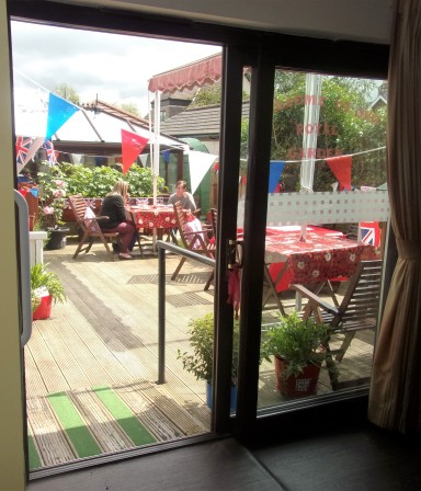 Our Outdoor Deck Area...